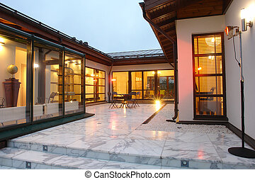 patio, villa
