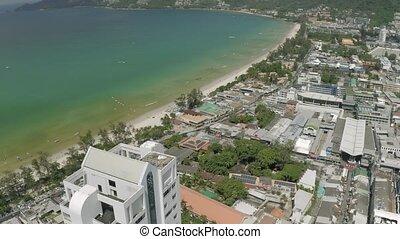 Patong city life, Cars and Bikes traffic in Thailand Phuket ...