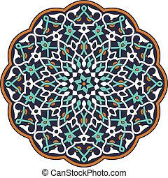 patrón, árabe, circular