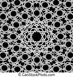 patrón, árabe, geométrico