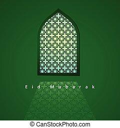 patrón, árabe, mezquita, ventana