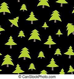 patrón, árbol, ilustración, vector, plano de fondo, navidad