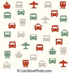 patrón, 2, seamless, transporte