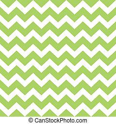 patrón, aislado, zigzag, verde, salvaje, blanco