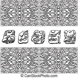 patrón, antiguo, ilustración