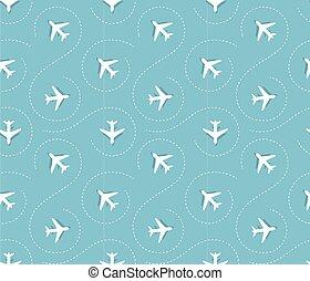 patrón, avión