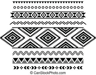 patrón, azteca, seamless, tribal