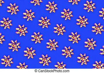 patrón, azul, real, arco, psicodélico