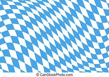 patrón, bávaro, bandera, twistet