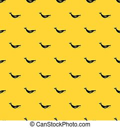 patrón, ballena, vector