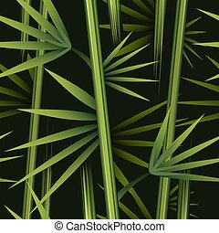 patrón, bambú, seamless