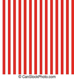 patrón, blanco, seamless, raya roja