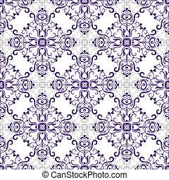 patrón, blanco, seamless, rhombuses