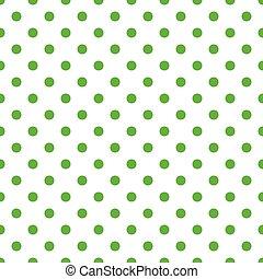 patrón, blanco, verde, seamless, guisantes