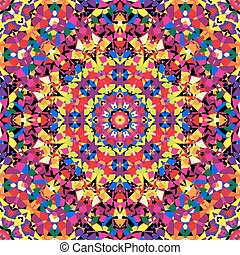 patrón, brillante, calidoscopio