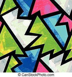 patrón, brillante,  Grunge, geométrico,  seamless