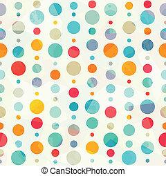 patrón, círculo, coloreado, seamless