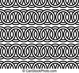 patrón, círculo,  seamless, cadena,  backg