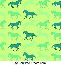 patrón, caballo,  vector, Extracto