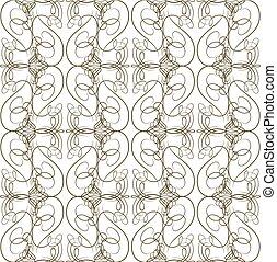 patrón, calligraphical, seamless