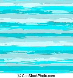 patrón, cepillo, azul, agua, seamless, strokes., rayado, mar...