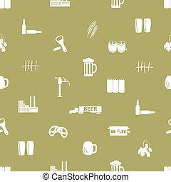 patrón, cerveza, eps10, icono