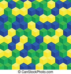 patrón, colores, seamless, brasileño
