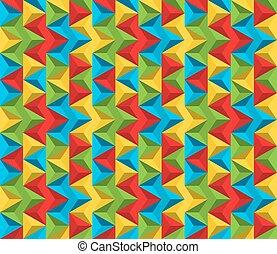 patrón, colores, seamless, hecho, triángulos, resumen, vívido