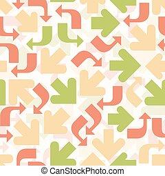patrón, colorido, plano de fondo, flecha, seamless