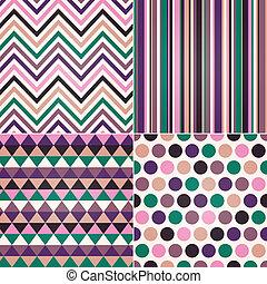 patrón, colorido, seamless, geométrico