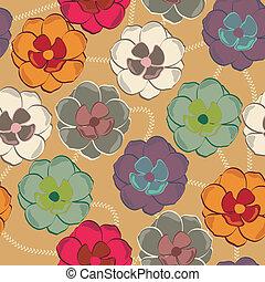 patrón, con, floral, plano de fondo