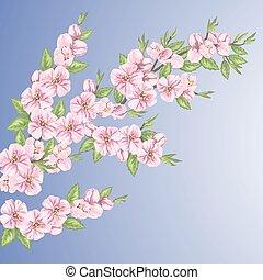 Ramas primavera papel pintado rbol seamless follaje - Papel pintado ramas arbol ...