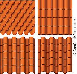 patrón, conjunto, techo