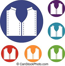 patrón, costura, conjunto, iconos