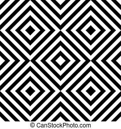 patrón, cuadrado, seamless, raya
