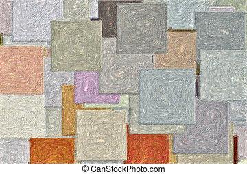 patrón, cuadrados, textured
