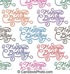 patrón, cumpleaños, seamless, plano de fondo, feliz