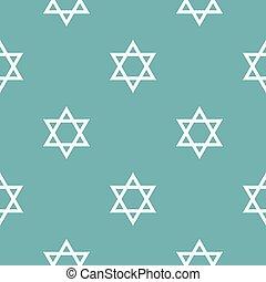 patrón, david, estrella, azul, seamless