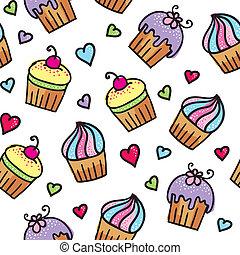 patrón, de, cupcakes