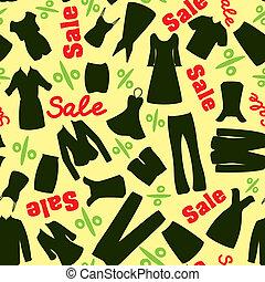 patrón, de, liquidación de todos los géneros, en, el, tienda de ropa