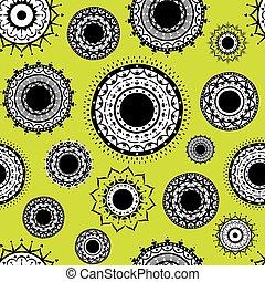 patrón decorativo, indio, diseño