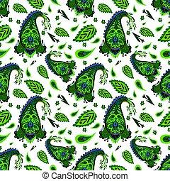 patrón decorativo, indio, seamless