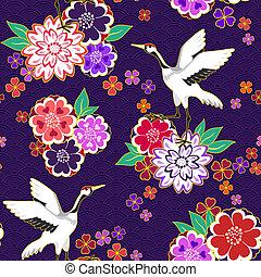 patrón decorativo, kimono
