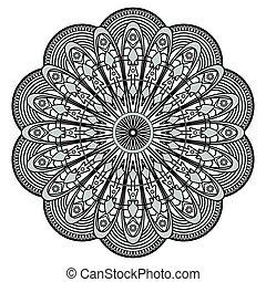 patrón decorativo, mandala, ilustración