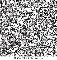 patrón decorativo, seamless, naturaleza