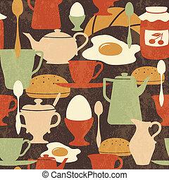patrón, desayuno, seamless, ingredientes