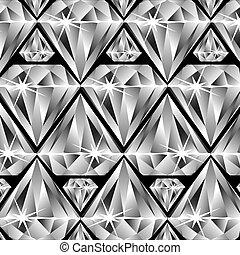 patrón, diamantes