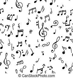 patrón, diseño abstracto, su, musical