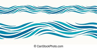 patrón, espalda, marina, estilizado, luz azul, seamless, ...