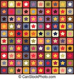 patrón, estrellas, seamless, colorido